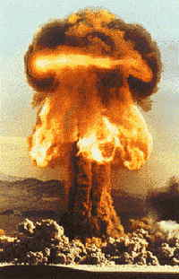 35 kiloton blast image = 20 pounds of plutonium = 70 million pounds of TNT